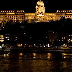 """фото """"Королевский дворец в Будапеште ночью"""""""