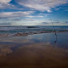 "фото ""Fishing at sunset"""