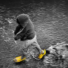 """фото """"Танец маленьких желтых штиблет, или Лебединное...лужа :)"""""""