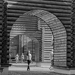 "photo ""Rhythm of the wooden palace of Tsar Alexei Mikhailovich."""
