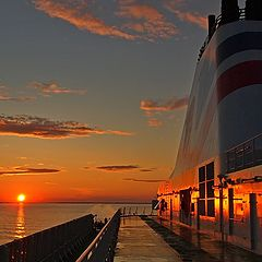 """photo """"Sunset on the ferry"""""""