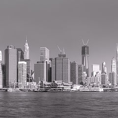 "фото ""View on lower Manhattan from Brooklyn"""