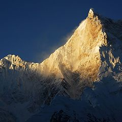 "photo ""Musharbrum peak at the sunset time"""