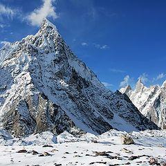 "фото ""Mitre and Biarchedi peaks"""