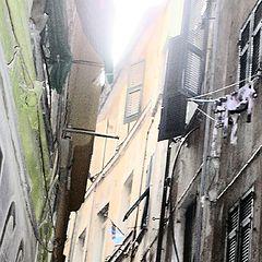 """photo """"Genoa, ancient lanes named """"caruggi"""""""""""