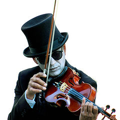 "photo ""violinist-mime"""