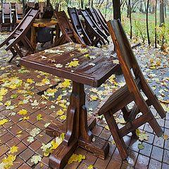 """фото """"столик на одного...или конец сезона"""""""