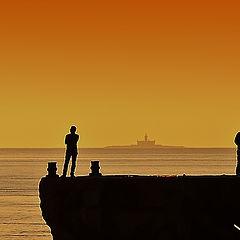 "фото ""Pier sunset"""