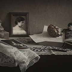 """фото """"С портретом молодой мамы"""""""