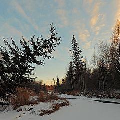 "фото ""Ноябрьское утро замерзающей реки."""