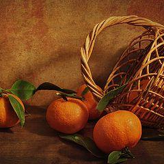 "фото ""Натюрморт с мандаринами"""