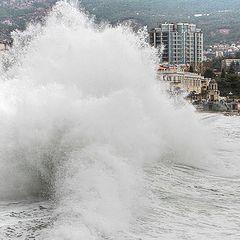 """фото """"шторм в Ялте"""""""