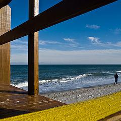 "фото ""Прогулка по зимнему пляжу"""
