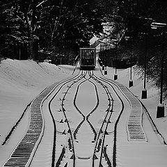 "фото ""Зимняя канатная дорога"""