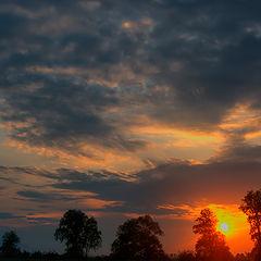 """фото """"Заиграло небо на закате"""""""
