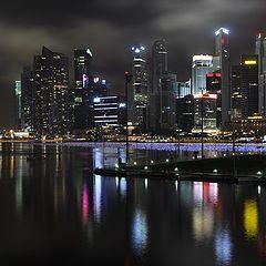 """фото """"Ночной Сингапур"""""""