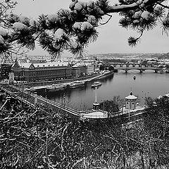"""фото """"Зимний вид из Праги"""""""