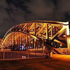 """фото """"Кельн. Мост. Ночь."""""""