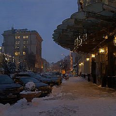 """photo """"Evening, snow, Moscow"""""""