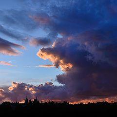 """фото """"Закат над монастырем"""""""