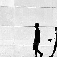 "фото ""walking silhouettes"""