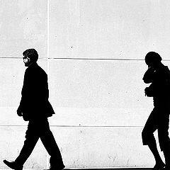"фото ""walking silhouettes 2"""