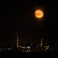 "photo ""The moon over the city"""