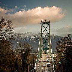 """photo """"Bridge to the Mountains"""""""
