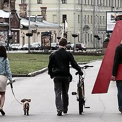 """фото """"Трое на набережной, не считая собаки ..."""""""