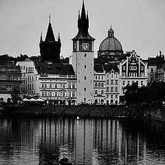 """фото """"Башне, домa a река Влтава"""""""