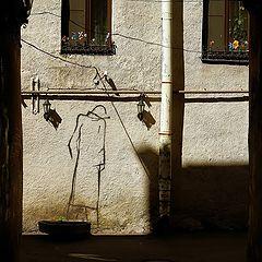 """фото """"Окно,цветы,рисунок."""""""