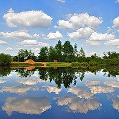 """фото """"Плыли облака по реке..."""""""