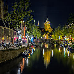 "photo ""Amsterdam night wiew"""