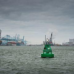 """photo """"The new """"Maasvlakte 2"""", Rotterdam."""""""