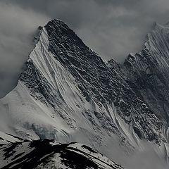 """photo """"Detail of Annapurna ridge"""""""