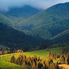 """фото """"облачный рассвет в горах"""""""