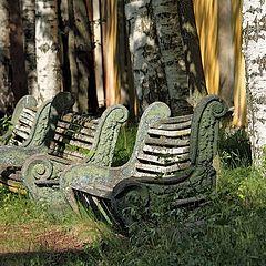 """фото """"Старые скамейки"""""""