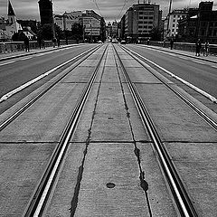 "фото ""Mост a трамвайные пути"""