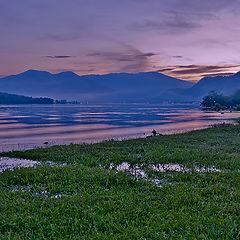 """фото """"вечер на Телецком озере."""""""