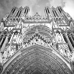 "фото ""Reims cathedral."""