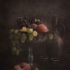 """фото """"Фрукты и кувшин с вином"""""""