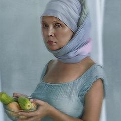 "фото ""Портрет с кабачками и луком..."""
