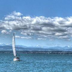 """фото """"Боденское озеро. В голубых тонах."""""""