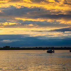 "photo ""Sunset at river"""