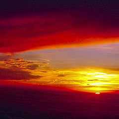 """фото """"Sunset from the plane"""""""