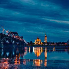 "photo ""Rybinsk at night"""