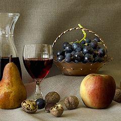 """фото """"С вино и фруктами"""""""