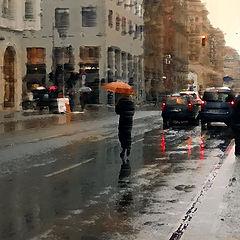 """фото """"Дождь на Фридрих Штрассе. Берлин"""""""