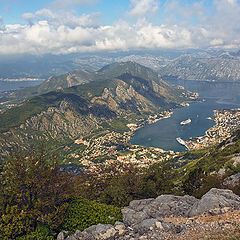 """photo """"View of the Bay of Kotor"""""""