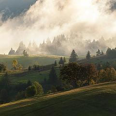 "фото ""Где-то там, за туманом, по утрам восходит заря...."""